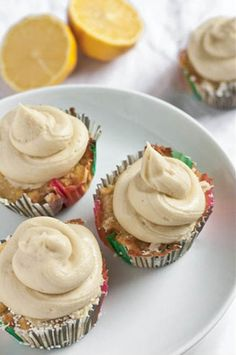 Gluten-Free Lemon Cupcakes, yum. #Cupcakes #GlutenFree #Brunch