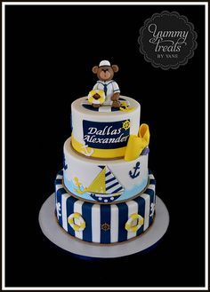 Nautical Baby Shower Cake!