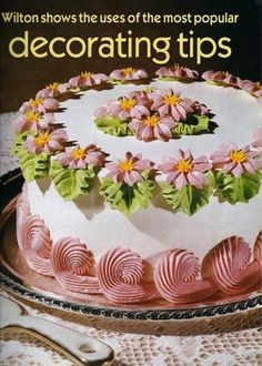 Vintage 1986 Wilton Decorating Tips Book Wedding Cake Decorating and more! 49 Pages are in Good Condition. Learn how to broaden your decorating range with their extensive array of different icing tips. Small stain at top corner of all pages…looks like a drop of vanilla extract hit