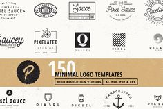 150 Vector Logo Templates by Pixel Sauce on @creativemarket