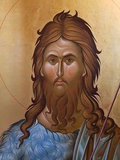 Christian Artwork, John The Baptist, Disney Characters, Fictional Characters, Saints, Portrait, Disney Princess, Saint John, Byzantine