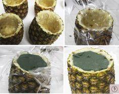 Aprendam a usar o abacaxi como um lindo cachepot para o seu centro de mesa ficar ainda mais charmoso e criativo!
