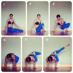 Arm balances: http://wwwyogafitnessflow.blogspot.com/ Step #1 might be a struggle :)