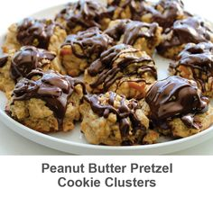 Gooey and oh so chocolately! Get this recipe at: http://www.psseasoning.com/blogs/news/18687191-recipe-peanut-butter-pretzel-cookie-clusters
