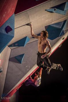 Living on the wall - Sanuk climber - Daniel Woods -American Bouldering Series National Championship - his title in 9 years. Photo by Beau Kahler. Sport Climbing, Rock Climbing, Indoor Climbing Wall, Outdoor Store, National Championship, Extreme Sports, Mountaineering, Climbers, Yoga