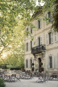 Chateau des Alpilles, a historic chateau in the heart on Provence in the south of France in St. Rémy.