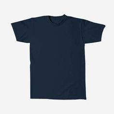 Basic Tees, Shirt Dress, T Shirt, Short Sleeve Dresses, Mens Tops, Campaign, Navy, Medium, Women