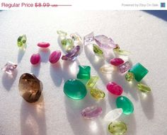 everything is on sale @ this shop PLUS a free shipping sale! 30 loose gemstones for jewelry making  by PaganCellarJewelry, $7.19