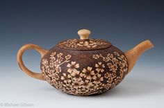 work by Michael and Cynthia Gibson Turned wood and pyrography