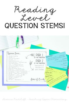 Question Stems can be used to help increase proficiency in both oral and written comprehension for your students. There are many ways you can use these Question Stems in your classroom, but my favorite is by using them for group discussion. Reading Strategies, Reading Activities, Reading Skills, Reading Comprehension, Classroom Activities, Classroom Ideas, Cloze Reading, Guided Reading, Teaching Reading