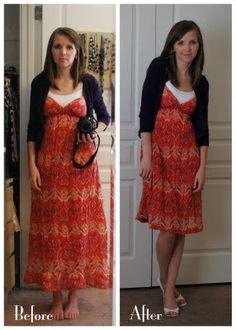idea - shorten maxi dress