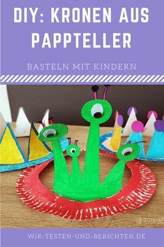 DIY Krone und Hüte aus Papptellern - Basteln mit Kinder (1)