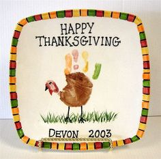 Image result for turkey handprint round plate