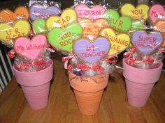 Valentine cookie bouquets -