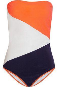 Rodez color-block bandeau swimsuit by Roksanda Ilincic