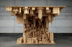A city on a coffee table