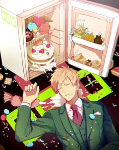 Noiz has cake. >> Please Noiz just stick to your bunny kink, Aoba doesn't need a sweet ass, he's already got it Manga Art, Anime Art, Noiz Dmmd, Nitro Chiral, Dramatical Murder, Game Character, Manhwa, Games To Play, Novels