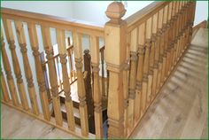 Berriew Provincial Softwood Staircase Oak Handrail, Metal Spindles, Banisters, Glass Panels, Case Study, Stairs, Refurbishment, Landing, Home Decor