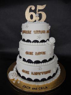 65th Wedding Anniversary Celebration Cake by CakesUniqueByAmy.com, via Flickr