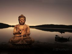 Golden Buddha Lakeside Photographic Print by Jan Lakey at AllPosters.com