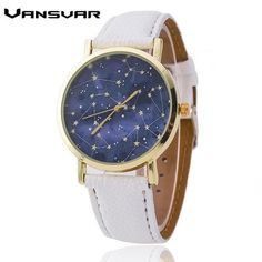 Vansvar Brand Leather Strap Constellations Watch Relogio Feminino Fashion Casual Women Quartz Watches Hot Selling 1765
