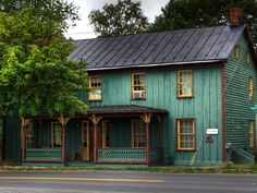 Rough sawn historic board and batten siding in Middleway, WV Towns In West Virginia, Front Porch Railings, Picture Boards, Board And Batten, Take Me Home, Ghost Stories, Southern Style, Exterior Paint, Home Projects