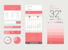 Light Color Free Flat UI Kit in 30 Flat UI Kits for Web Designers