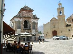 A quiet square in Antequera - the perfect place to enjoy a chilled sherry and a tapa of cured ham!