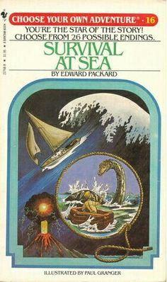 """""""Survival At Sea""""  ***  Edward Packard  (1982)"""