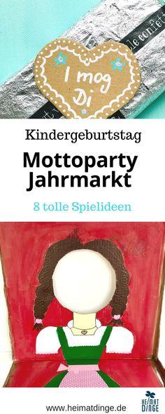 Games for a fun fair Kids birthday - DIY Kindergeburtstag - Oktoberfest Oktoberfest Party, Fun Fair, Ideas Para Fiestas, Birthday Diy, Growing Vegetables, Diy For Kids, Food, Fun Games, Diys
