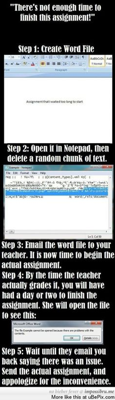Oooooo.....this is horribly sneaky, but too awesome not to pin. xD not that I would ever do this though. :/
