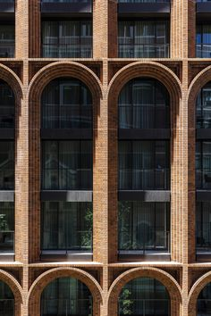 Brick arches are topped by glass tower at Arc by Koichi Takada Architects – – - Architektur Brick Roof, Brick Facade, Brick Design, Facade Design, Architecture Arc, Architecture Definition, Computer Architecture, Enterprise Architecture, University Architecture