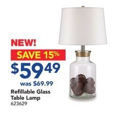Shared from Flipp: Refillable Glass Table Lamp in the Lowe's flyer