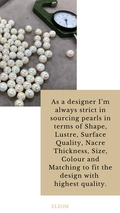 Sourcing natural pearl requirement. ✨