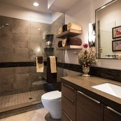 29 Best Brown Bathroom Decor Images Small Shower Room Bathroom