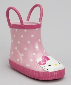 Take a look at this Pink Hello Kitty Rain Boot by Western Chief on #zulily today!