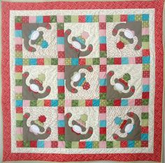 Monkeyshines Quilt Pattern QD2-125 (advanced beginner, baby, wall hanging)