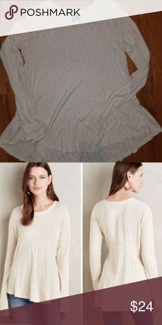 """Anthropologie Dara Pullover by Left of Center: S Anthropologie Dara Pullover by Left of Center: Size S EUC Color -  Ivy Cotton, Rayon, Spandex Machine Wash 27"""" L Anthropologie Tops"""