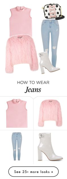 """""""jeans"""" by lolaa20 on Polyvore featuring River Island, RED Valentino, Gianvito Rossi, Betsey Johnson and Charlotte Simone"""