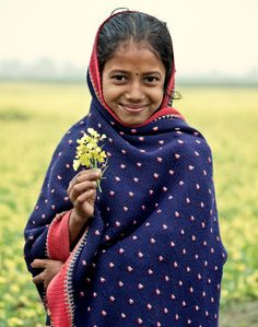 A flower and a smile ,India