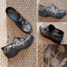 Hand-carved Dansko clogs