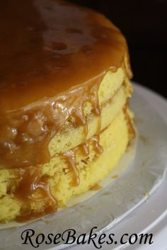 Caramel Cake with Dripping Caramel