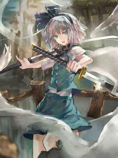 Touhou Project that's a big bow Art Manga, Manga Girl, Anime Art Girl, Anime Manga, Anime Girls, Touhou Cosplay, Anime Krieger, Katana Girl, Anime Lindo