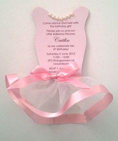Pink Ballerina Tutu Invitation