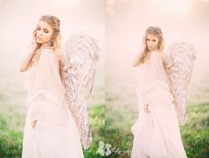 WOW. Angel vintage themed bridal portraits by Three Nails Photography.