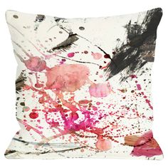 Watercolor pillow. My kind of pop of color for a room