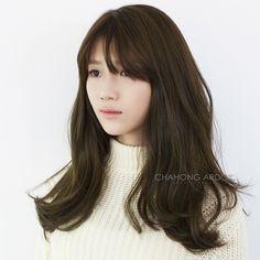 앞머리 있는 볼드펌 Permed Hairstyles, Down Hairstyles, Pretty Hairstyles, Girls Crown, Let Your Hair Down, Cute Cuts, Brunette Hair, Hair Looks, My Hair
