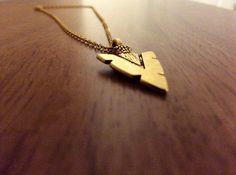 Arrow Down Necklace by Byachadjewelry on Etsy
