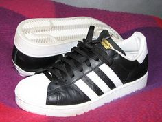 Adidas Superstar MKI Black with White Shell Toe     shoes