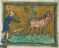 Animal detail from medieval illuminated manuscript - British Library Royal MS 12 F XIII - c 1230-14th century - f37v